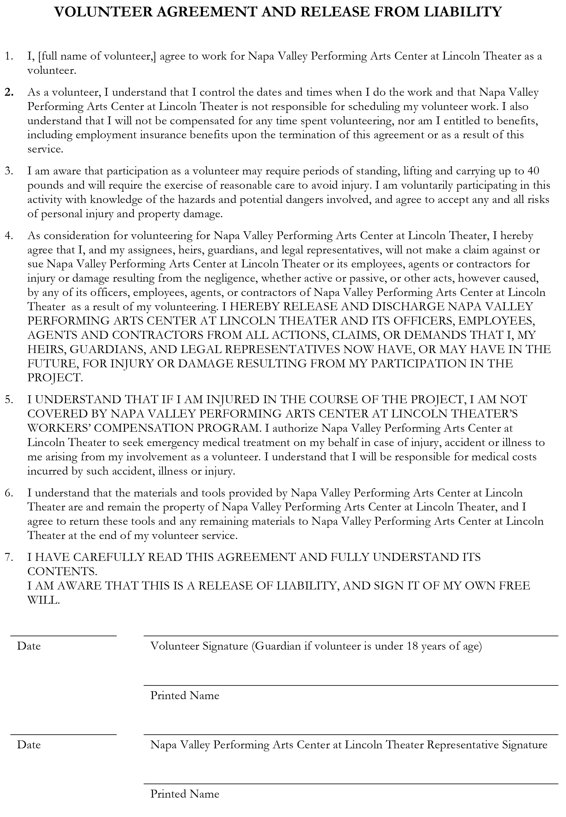 Microsoft Word - Volunteer form and waiver.docx